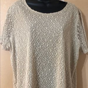 SOLD New with tags Chico's  Mari Mesh blouse